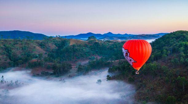 Hot Air Balloon at Sunrise Self Drive
