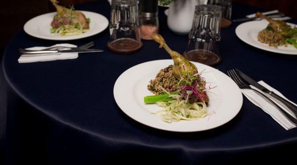 Beautiful chef prepared meals