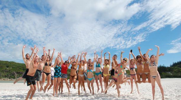 Jump for joy when you finally land at Whitehaven Beach!
